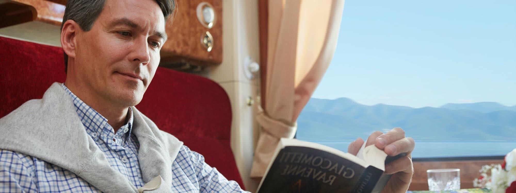 Entspannt lesen im Zarengold Transsibirian